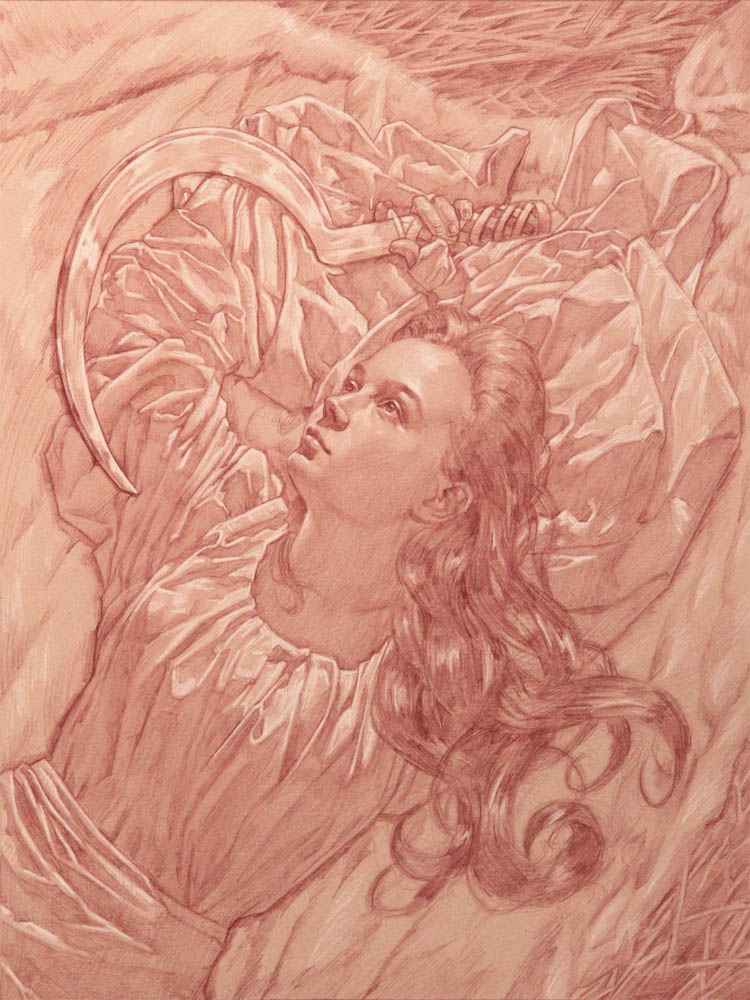 The Art of Michael C Hayes: Red Pencil Drawings