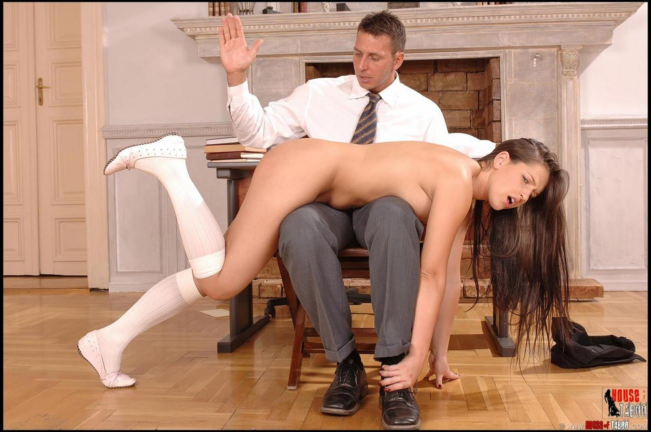 over her knee spank