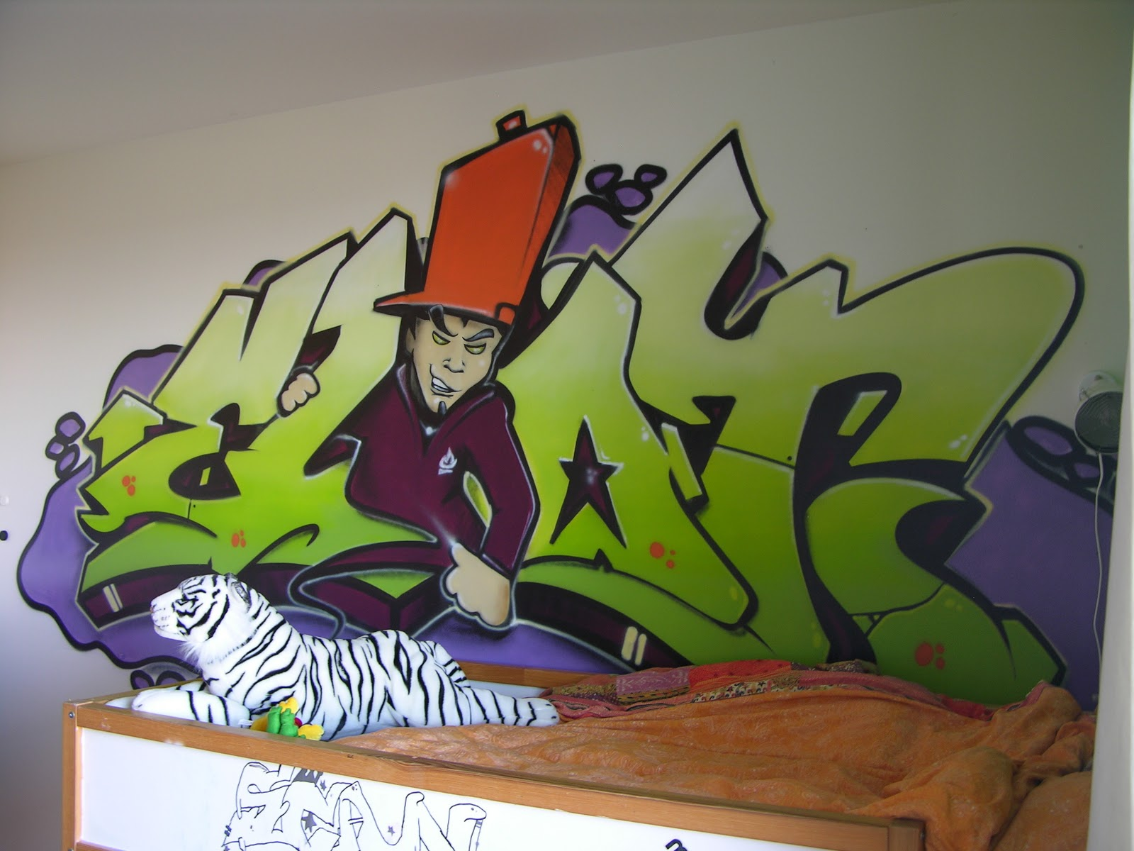 Chambre denfant graffiti