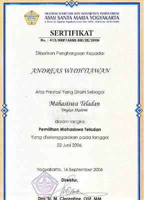 Profil Andreas Widhyiawan