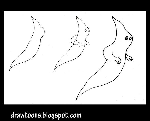 Cartoon animals to draw step by step