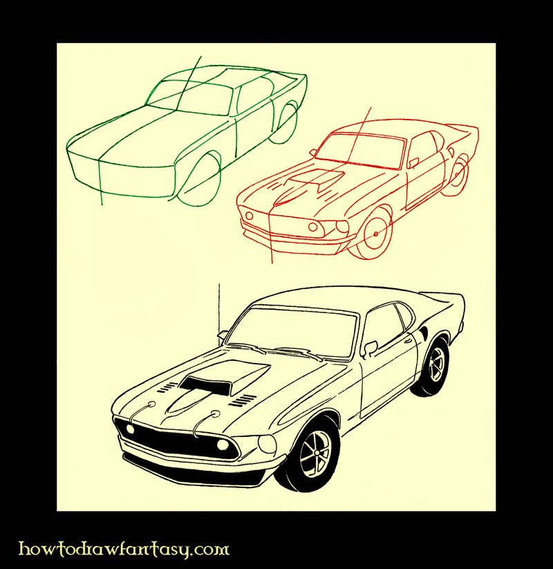 draw mustang car image search results