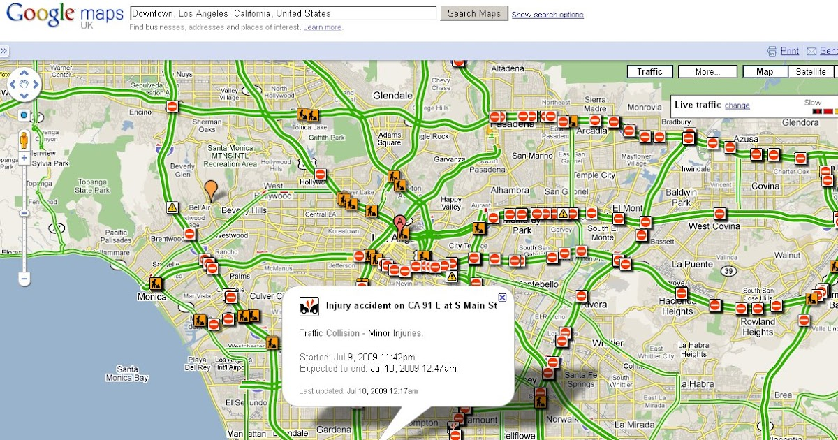 Mapperz The Mapping News Blog Live Traffic Reports Google Maps