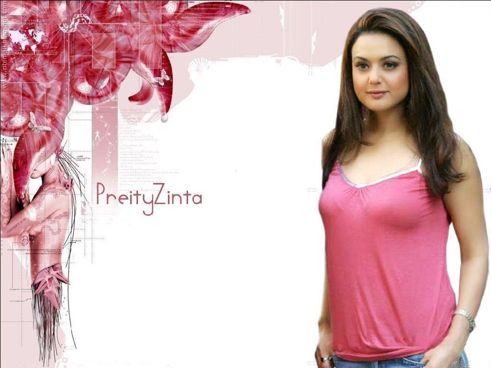 Preity Zinta Hot Navel And Boob Show  Go 4 Wallpaper Download-8197