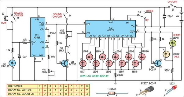 LED Chaser Provides Three Game Functions | Xtreme Circuits