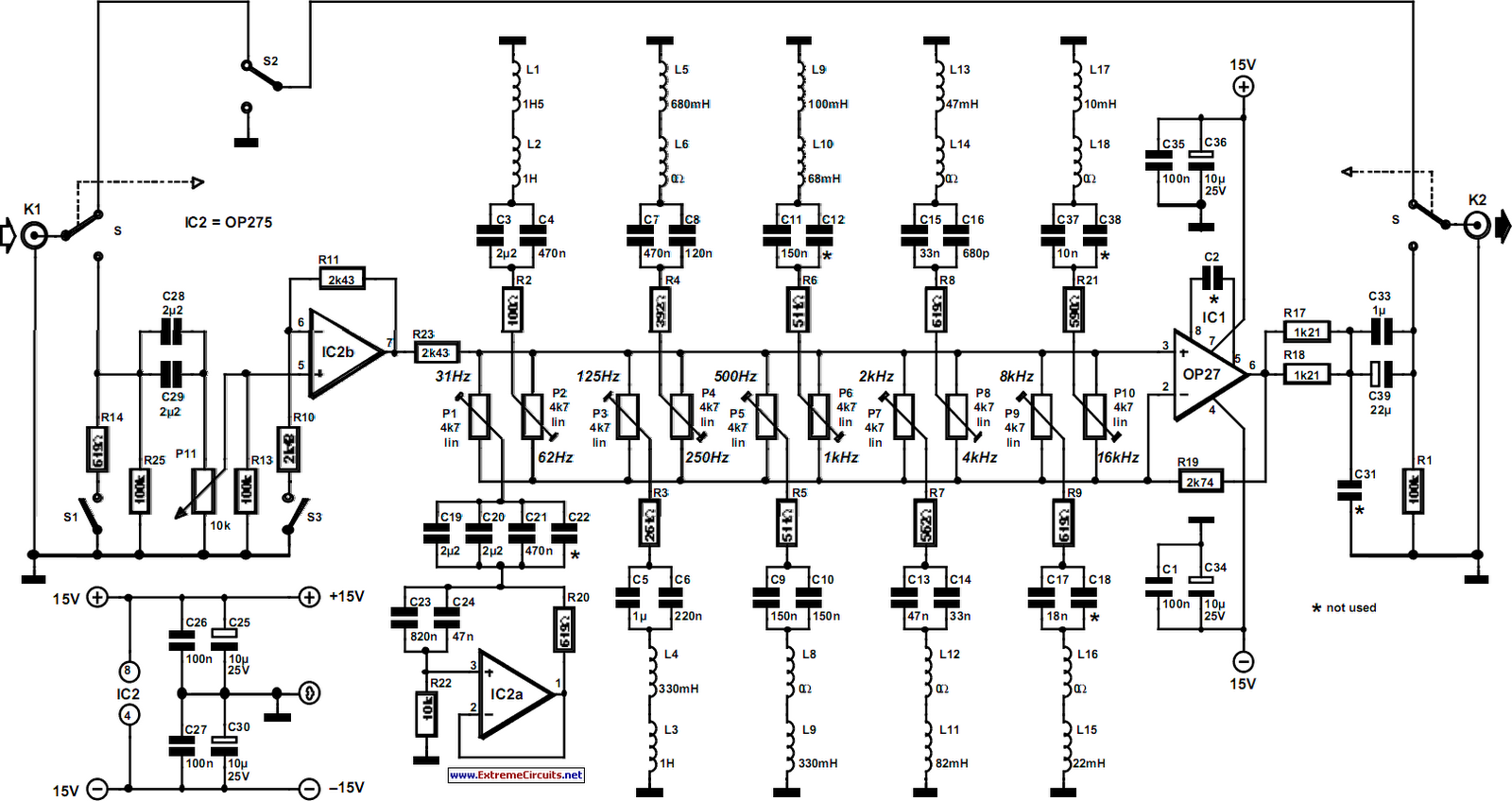 Ten-Band_Equalizer_Circuit_Diagram  Bose Amplifier Wiring Diagram on