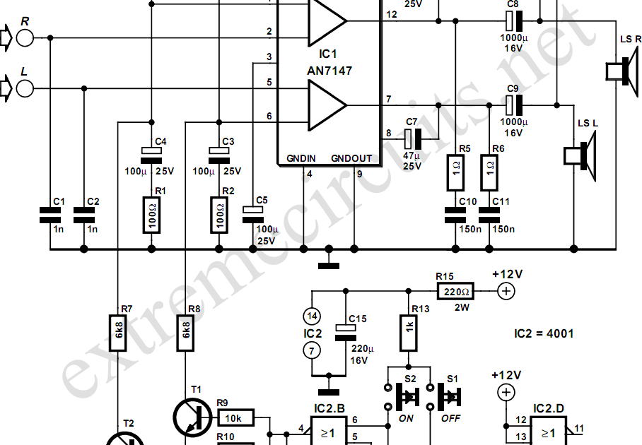 3w amplifier with surround system