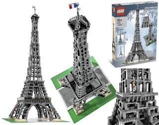 0a706a44acb Muito show o kit LEGO da famosa Torre Eiffel em escala 1 300. O kit LEGO  Eiffel Tower 1 300 é formado de 3.428 peças de LEGO e depois de montada a  torre ...