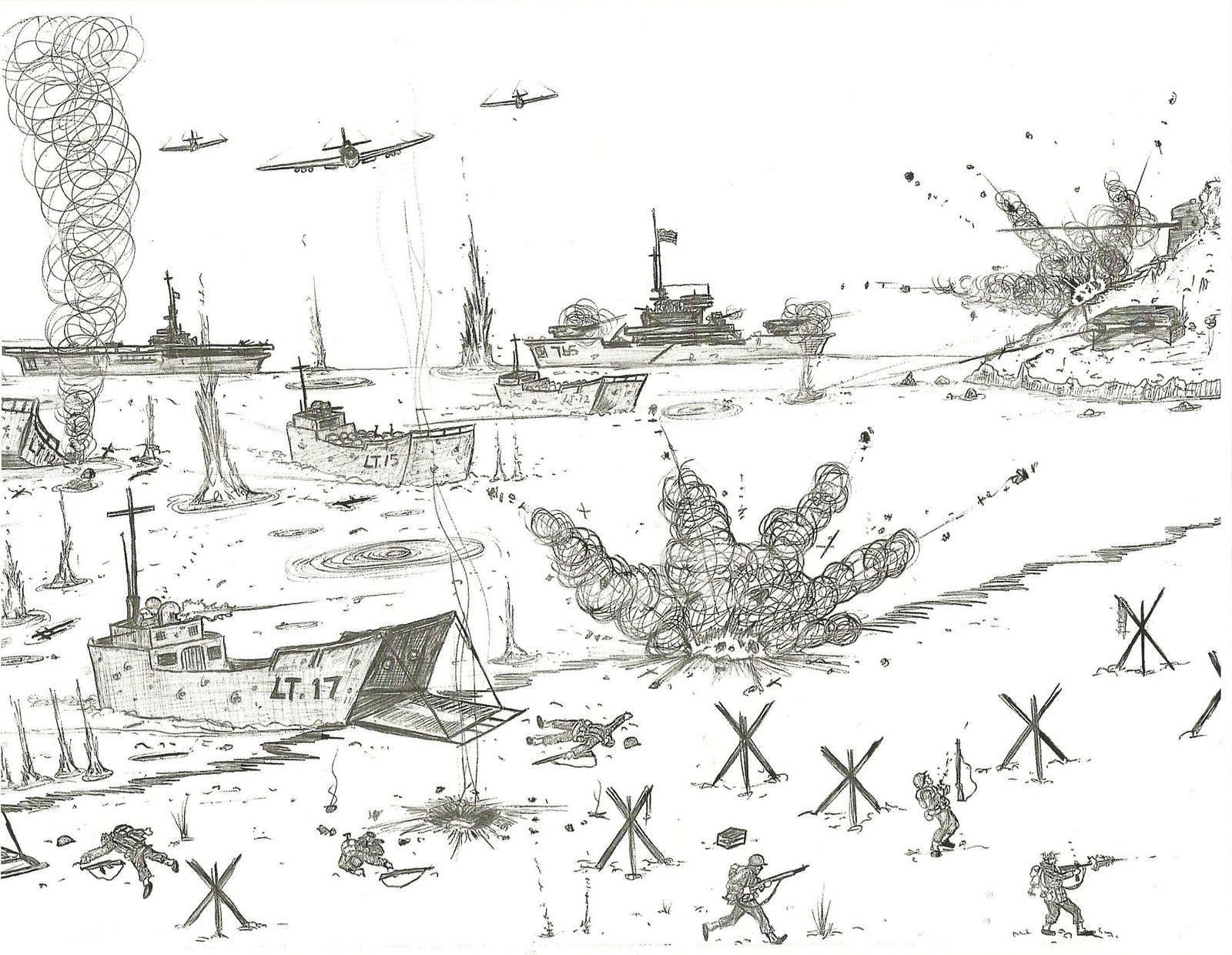 World Of Technology: Drawings of WWII by a Ten Year Old