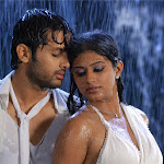 Actors Nitin And Priyamani Drenched Completely In White Dresses For A  Rain Song In Dhrona 1