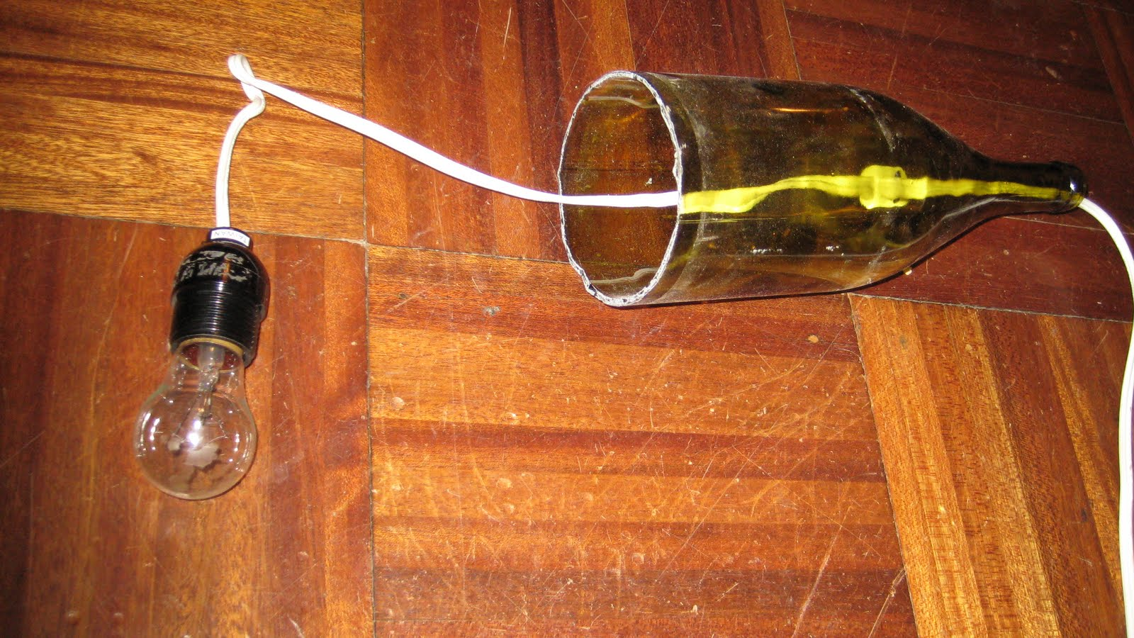 Remodelaholic how to make a glass wine bottle pendant light diy aloadofball Image collections