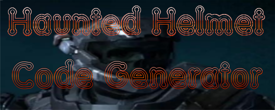 Halo Reach Haunted Helmet