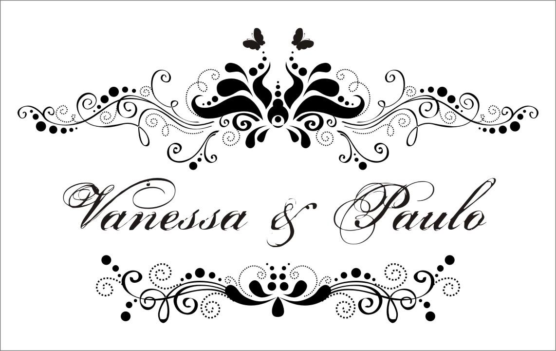 Feito Borboleta: Convites de Casamento Vanessa e Paulo