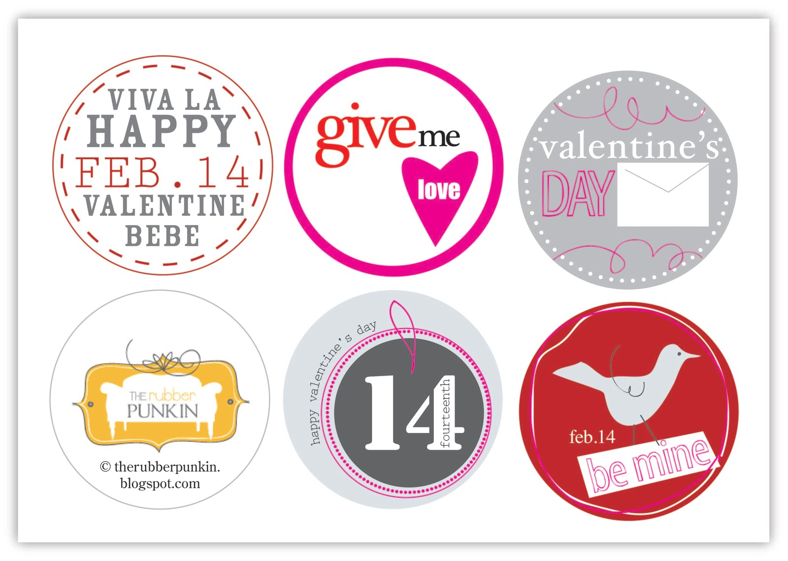 The Rubber Punkin Happy Valentine S Free Printable
