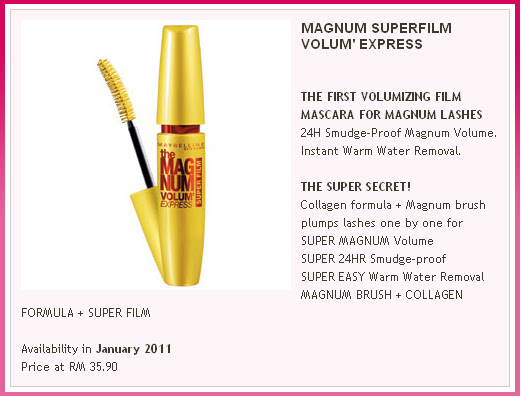 fcc5191e8cd Super Film Mascara : Builds volume without clumps; 24-hour smudge-proof  wear; Removes instantly with warm water