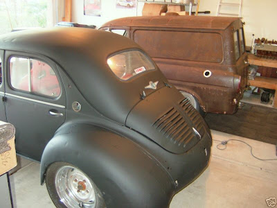 carscoop utterly crazy renault 4cv with subaru 2 0l twin turbo boxer engine. Black Bedroom Furniture Sets. Home Design Ideas