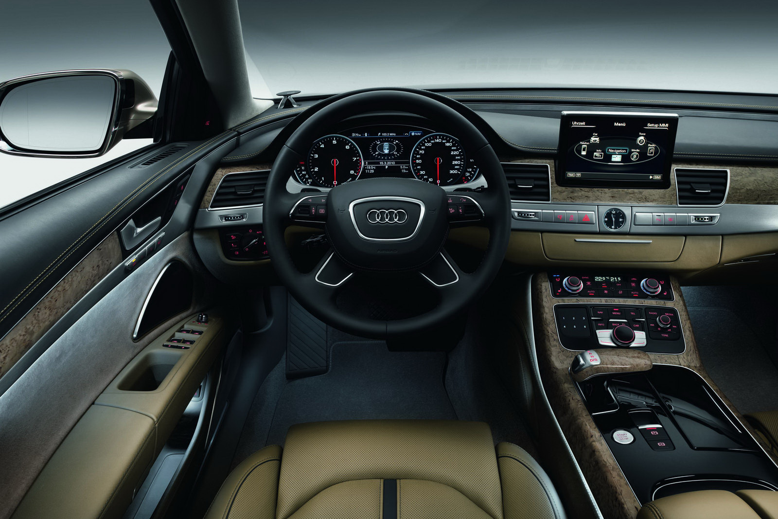 new audi a8 l with long wheelbase and 500hp 6 3 liter w12. Black Bedroom Furniture Sets. Home Design Ideas