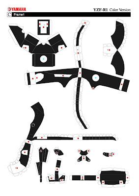 DIY: Paper Cut Yamaha YZF-R1 Replica
