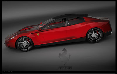 from russia with love ferrari four door coupe study. Black Bedroom Furniture Sets. Home Design Ideas