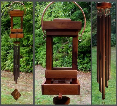 birdfeeder, bird feeder, wind chime, deluxe, handcrafted