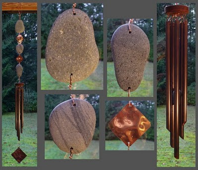 Beach Stone Wind Chime Handcrafted