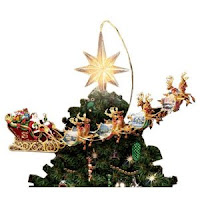 animated christmas tree toppers santa mickey mouse and angel
