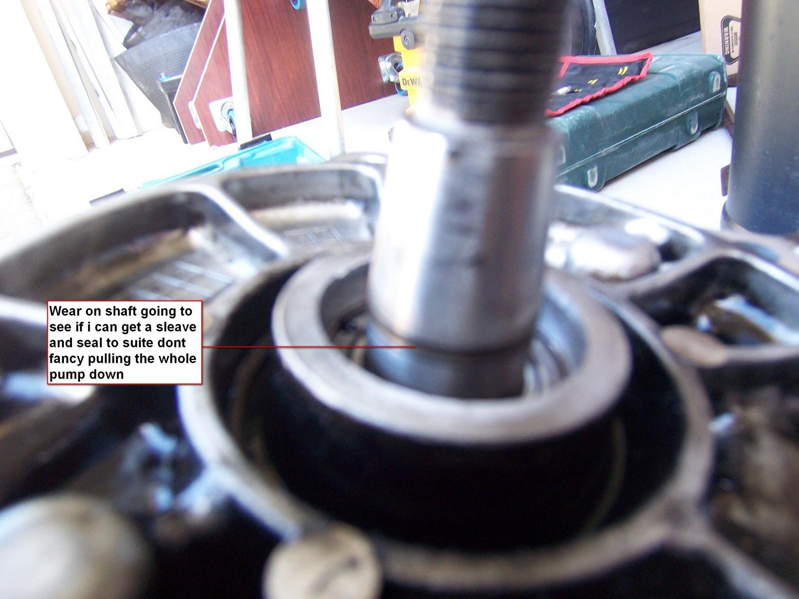 Delica pump: delica injector pump seal repair