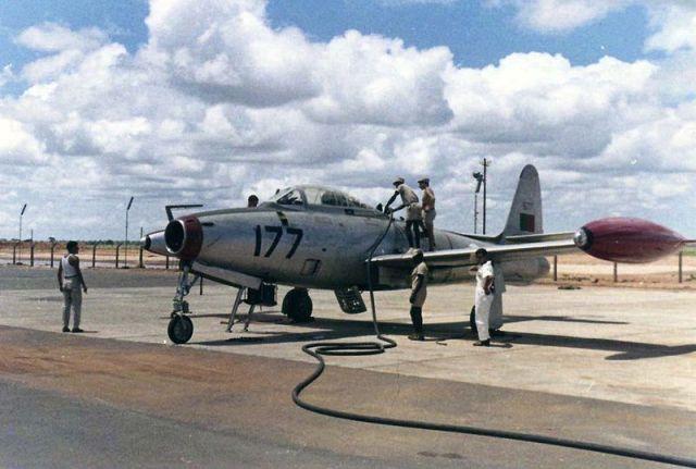 Um F-84 Thunderjet da FAP