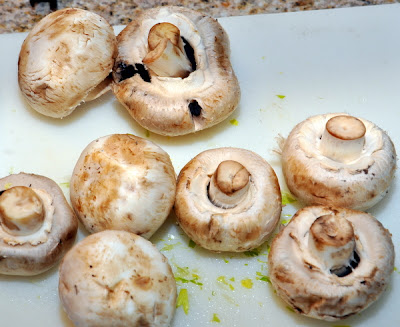 Turkey Sausage pot pie mushrooms