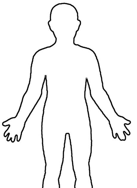 The Drew Patch: Outline of the human body