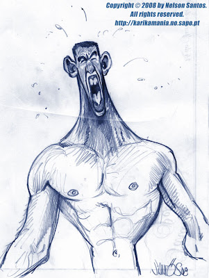 Michael Phelps Caricature