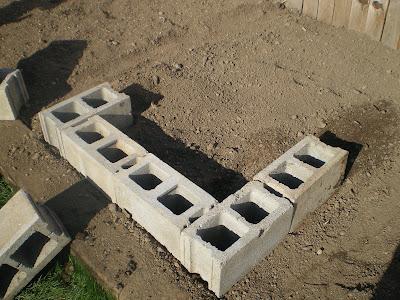 Cinder Block Water Connection Built Beds - platform beds ...