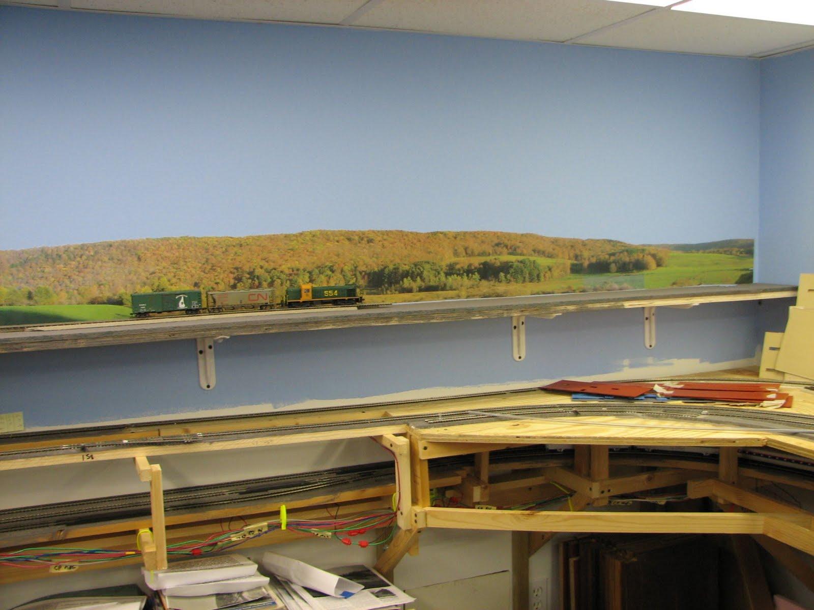 Mike mcnamara 39 s northeast kingdom model railroad photo - Model railroad backdrops ...