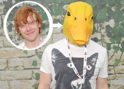 Paparazzi shot of Rupert Grint