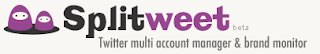 Splitweet multiple twitter account management BlogPandit