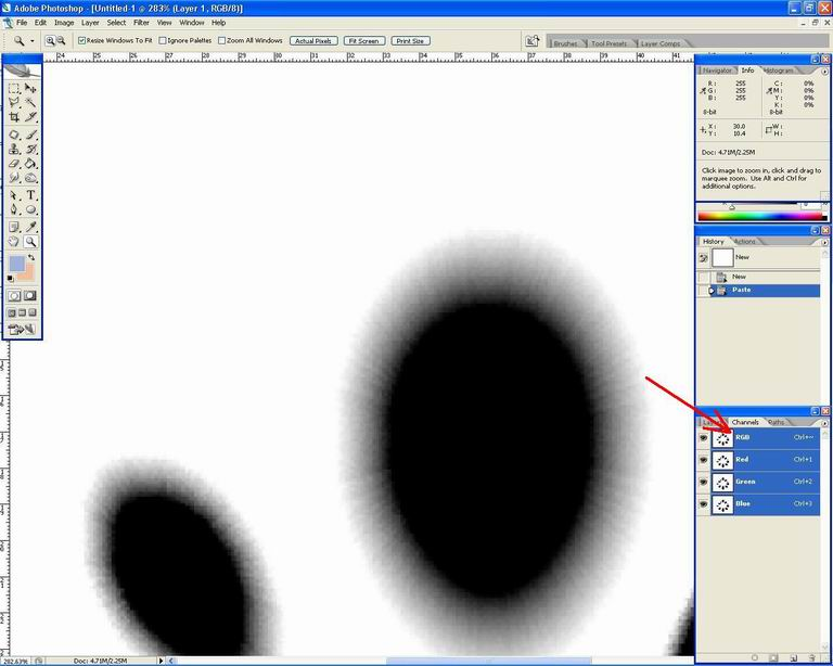 Belajar PhotoSHOP: cara mengganti gambar warna RGB ke ...