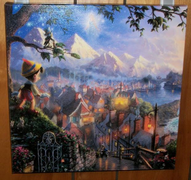 Thomas Kinkade Disney Paintings