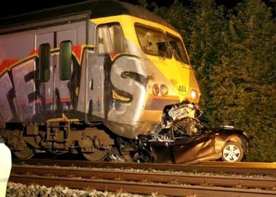 Train Crash graffiti