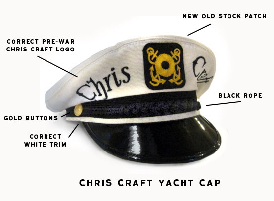 Real Classic Yacht Boat Skipper Hats Caps Chapeaus  Not The