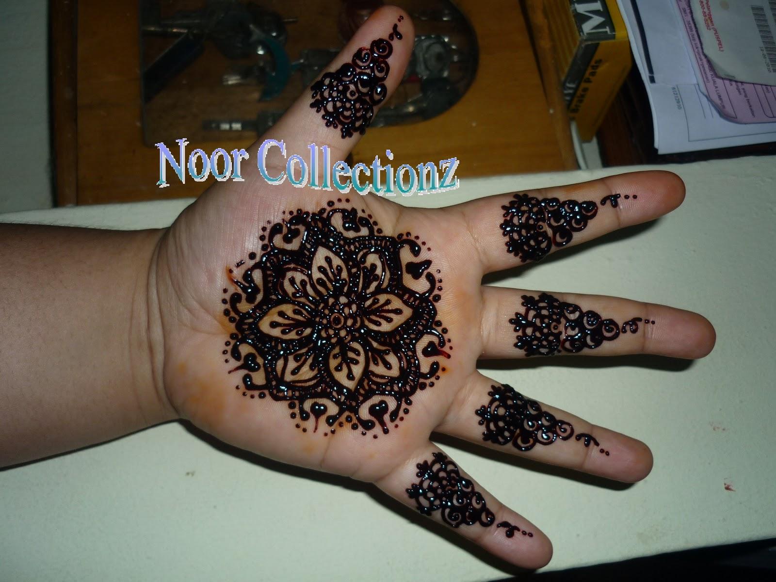 Henna Simple Di Telapak Tangan Makedes Com