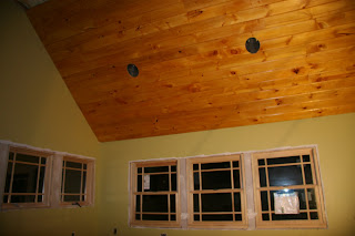 Pine Ceilings And Amber Shellac