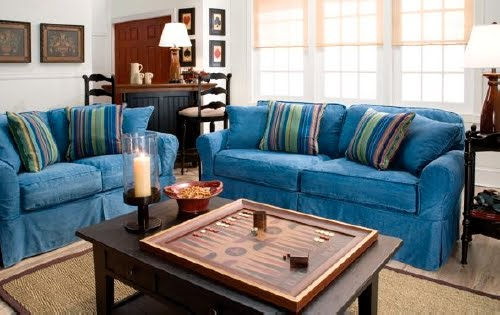 raymour and flanigan sofa slipcovers entertainment the cyber school mom diaries double wide couchasaurus rex it was on sale has a super durable machine washable denim slipcover removable backrest cushions