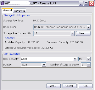 How To : Create a MetaLUN on an EMC Clariion CX4 2