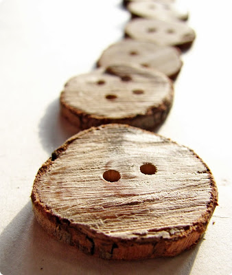 Wooden Branch Buttons - Shrimp Salad Circus
