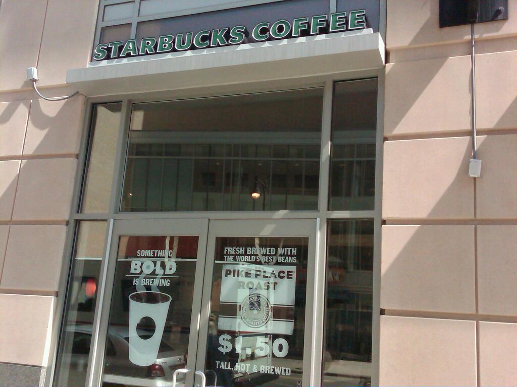 starbucks advertising: Fenway Starbucks on Friday May 1st