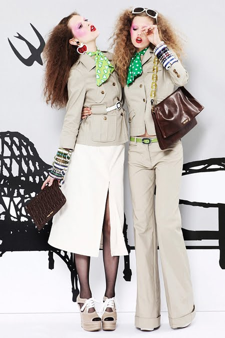 I really love what Miu Miu has been doing lately and this resort collection  is no exception! Wow! Those apple print pants and necklaces are pretty  funky! d901425ba08c0