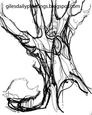 The Art of J.L. Giles: Holm Oak VI (Encinas)