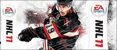 "Jonathan Toews on ""NHL '11"" cover"