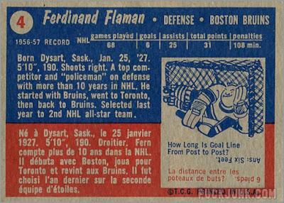 1957-58 Topps #4 - Fernie Flaman