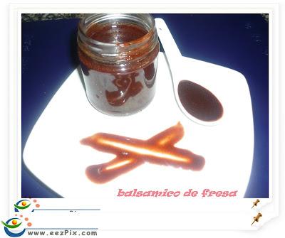 balsámico de fresa